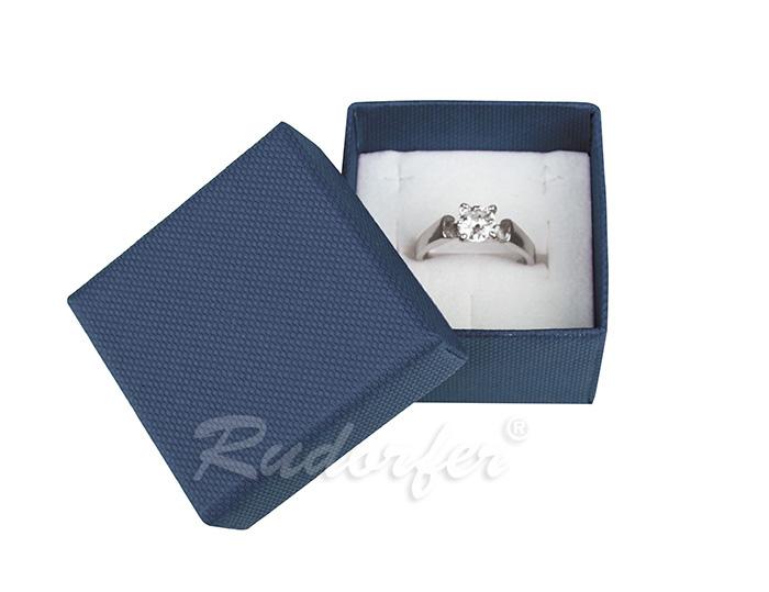 Cutie pentru inel din carton SOFIA pe albastru