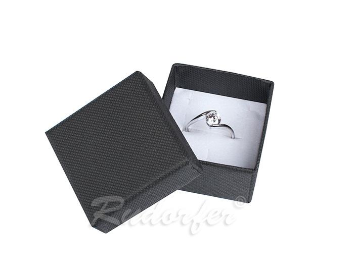 Cutie pentru inel din carton SOFIA pe negru