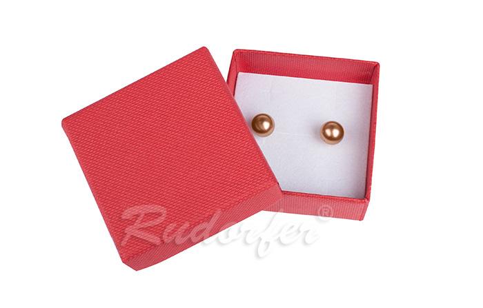 Cutie pentru cercei din carton SOFIA pe rosu