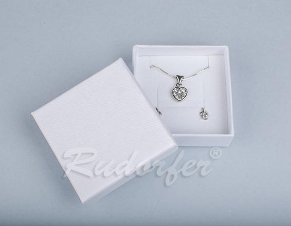 Cutie pentru inel si cercei din carton SOFIA pe alb