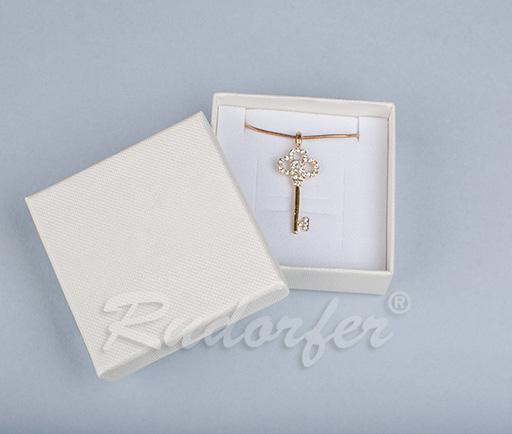 Cutie pentru inel si cercei din carton SOFIA pe crem