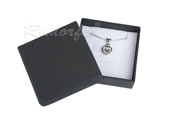 Cutie pentru inel si cercei din carton SOFIA pe negru