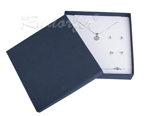 Cutie pentru seturi MARE din carton SOFIA pe albastru