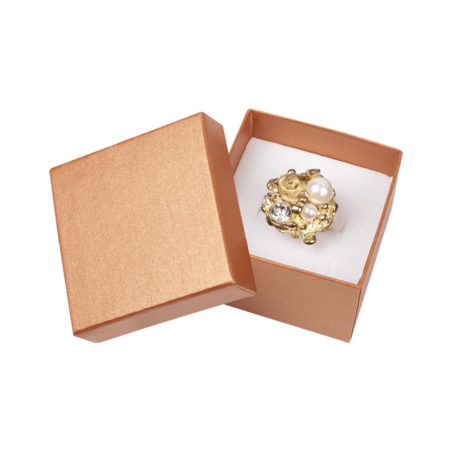 Cutie pt INEL mare din carton SPIRIT PEARL pe MARO deschis