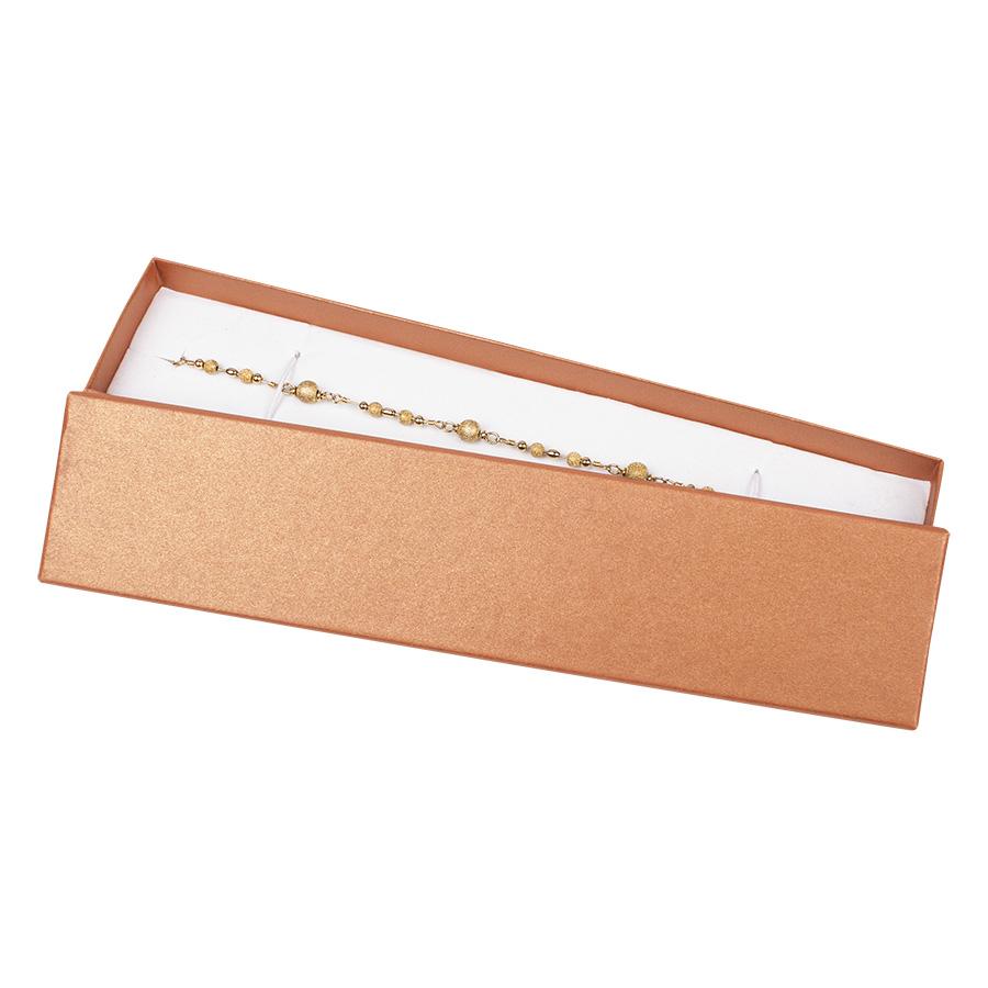 Cutie pt BRATARA din carton SPIRIT PEARL pe MARO deschis