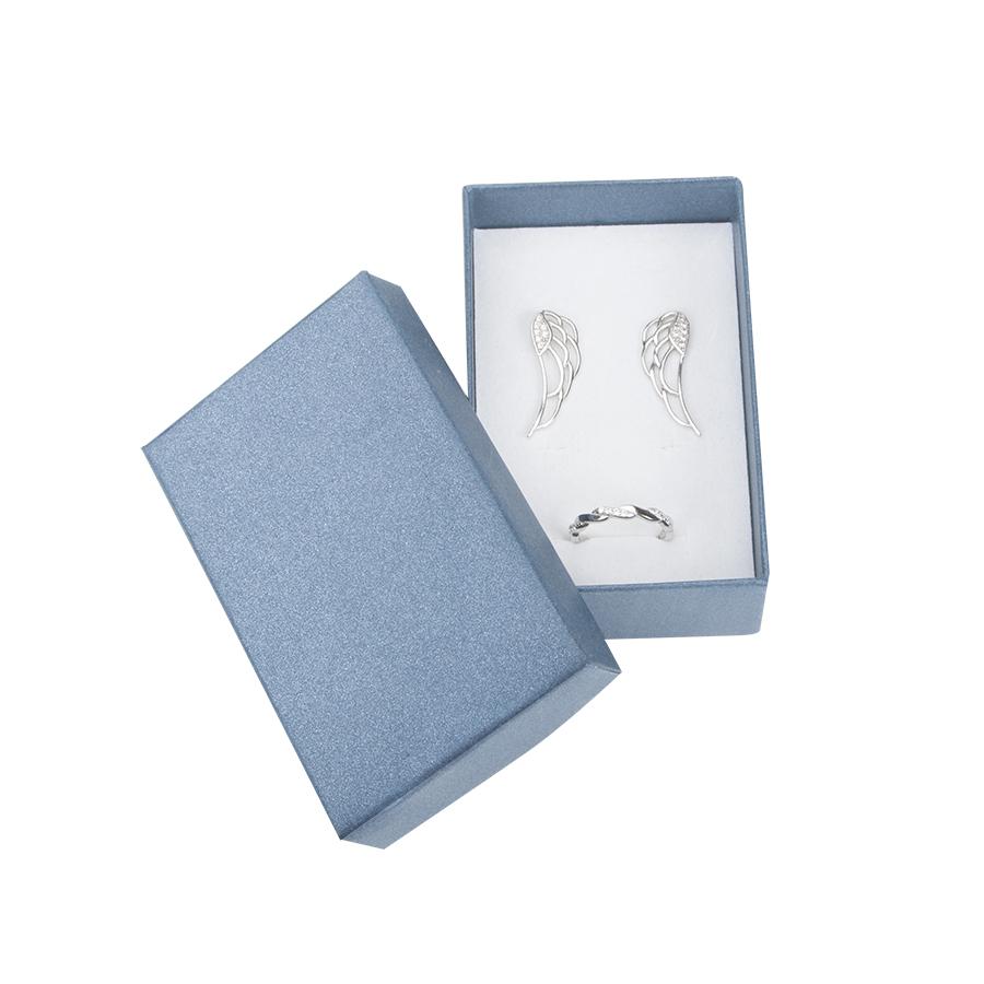 Cutie pt SET din carton SPIRIT PEARL pe ALBASTRU