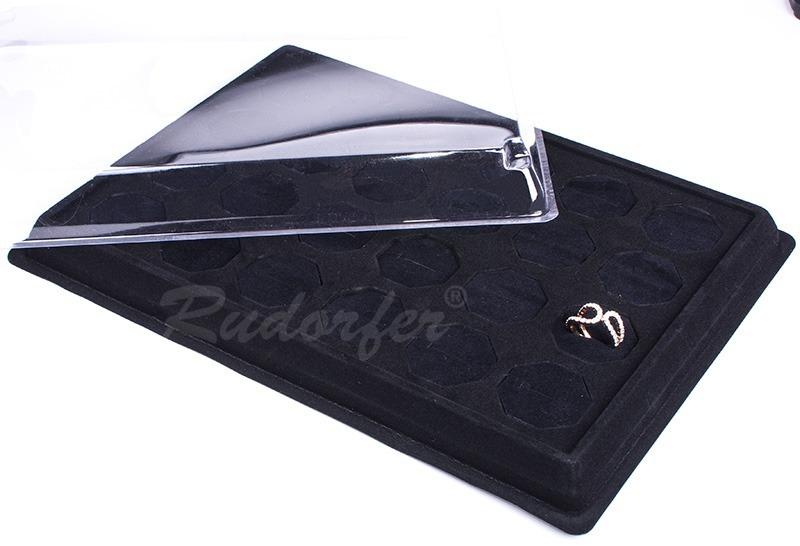 Tava din catifea pt INELE 24201 pe negru