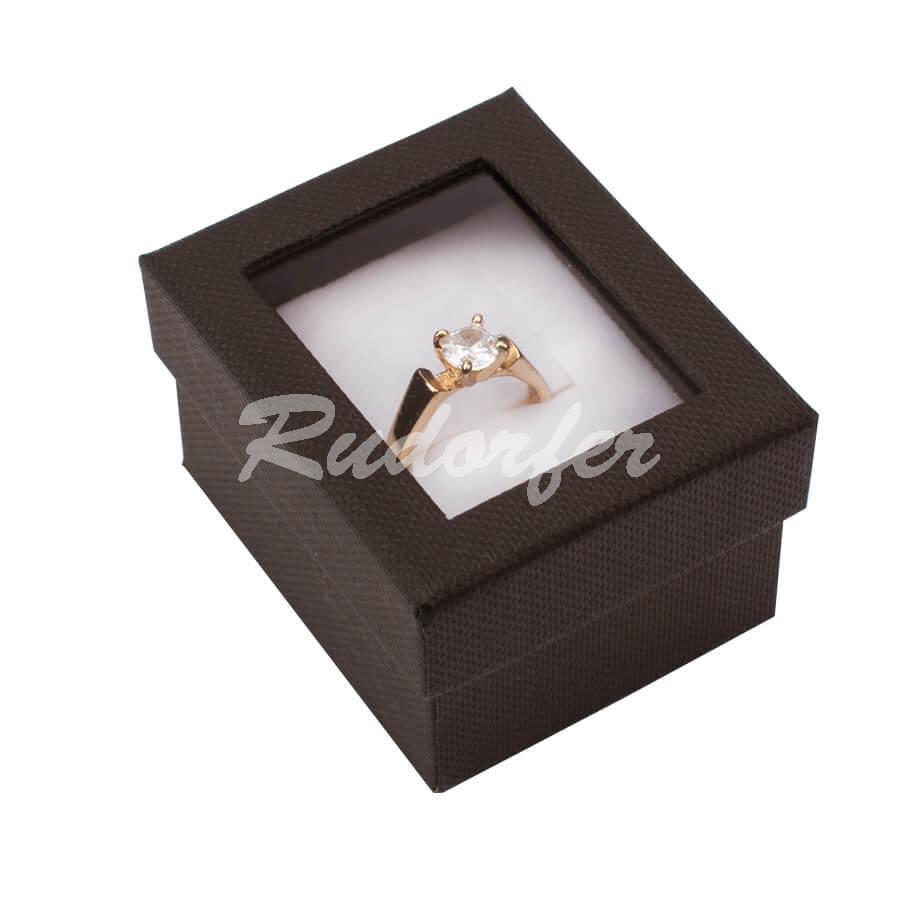 Cutie pentru inel din carton VENEZIA pe maro
