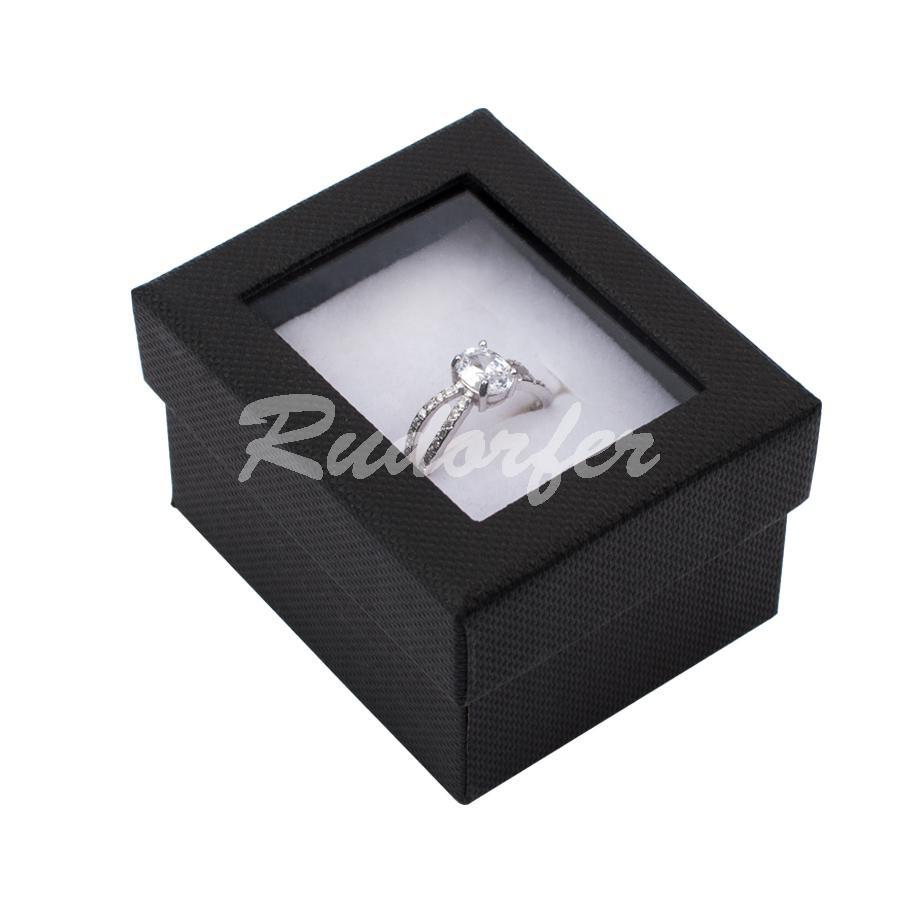 Cutie pentru inel din carton VENEZIA pe negru