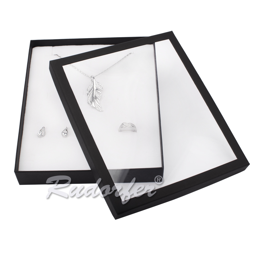 Cutie pentru set mare din carton VENEZIA pe negru